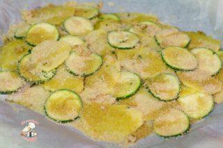 Filetti d orata con patate e zucchine in forno