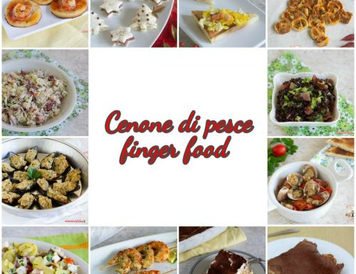 Cenone di pesce finger food