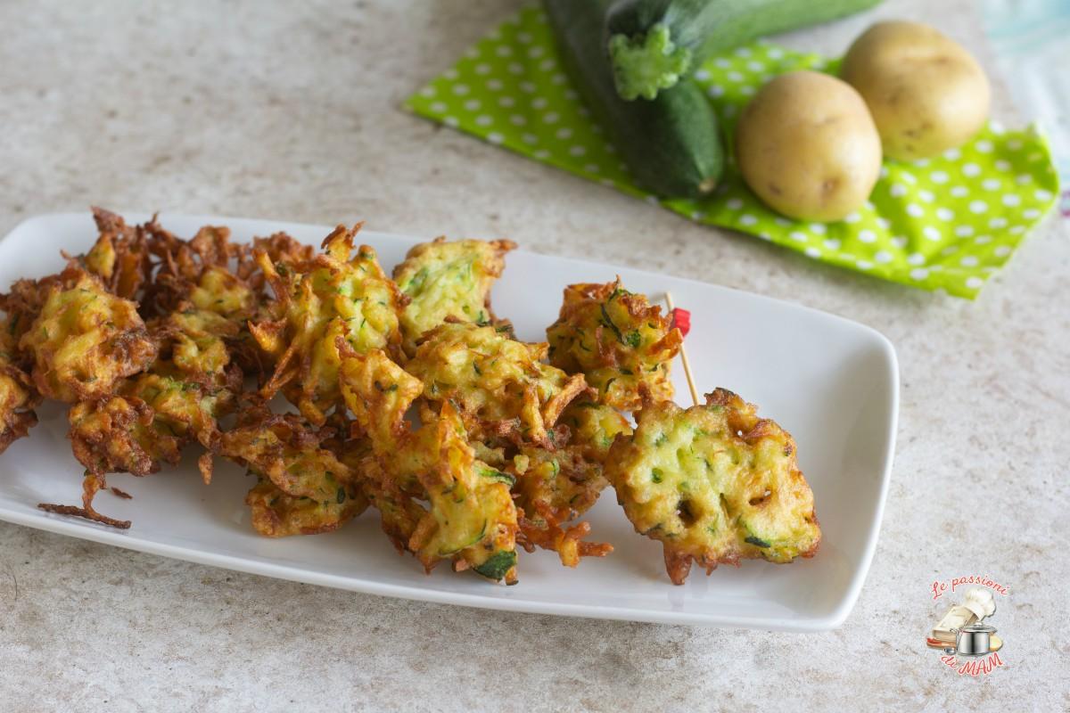 Frittelle con zucchine e patate