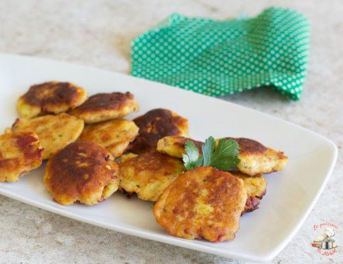 Schiacciatine di patate e pancetta