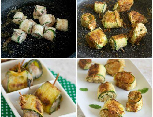 Involtini di zucchine gratinati nella pentola Magic Cooker