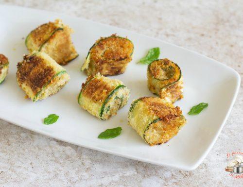 Involtini di zucchina gratinati