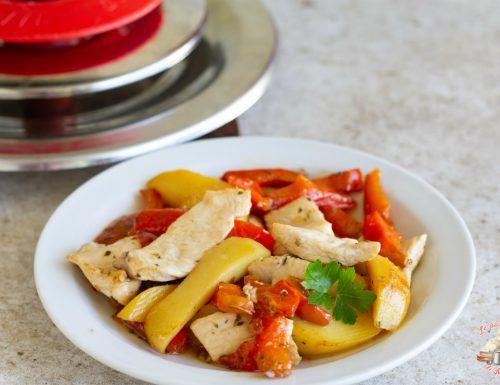 Pollo peperoni e patate con magic cooker