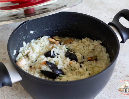 Risotto cozze e gamberi con magic cooker