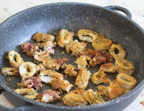 Calamari gratinati nella pentola magic cooker