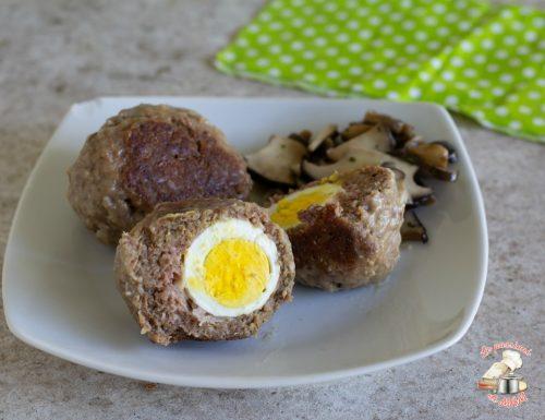 Polpettoni con uovo sodo e pancetta