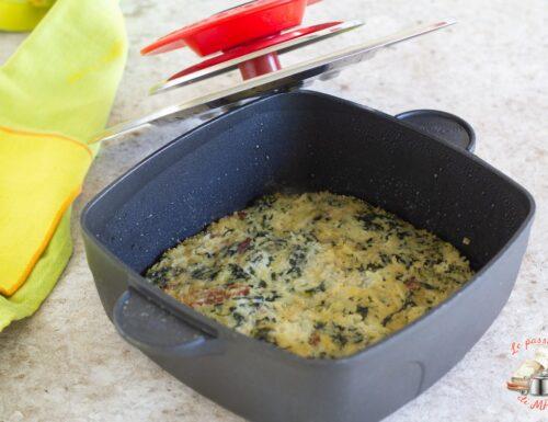 Torta di riso spinaci e speck con Magic Cooker