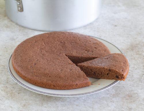 Torta all'acqua al cacao nel kit forno