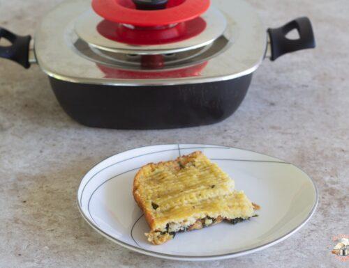 Tortino di patate con spinaci e pancetta con Magic Cooker