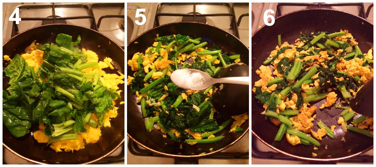 Spinaci con uova le ricette cinesi x italiani for Piatti cinesi mangiati in italia