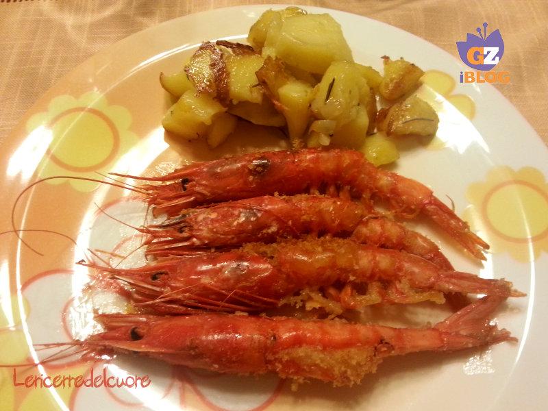 Gamberoni al forno gratinati ricetta le ricette del cuore for Ricette gambero rosso