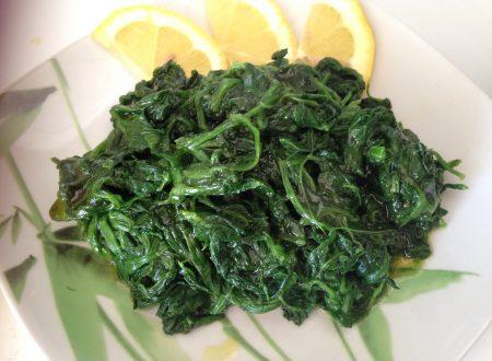 Insalata di spinaci al limone