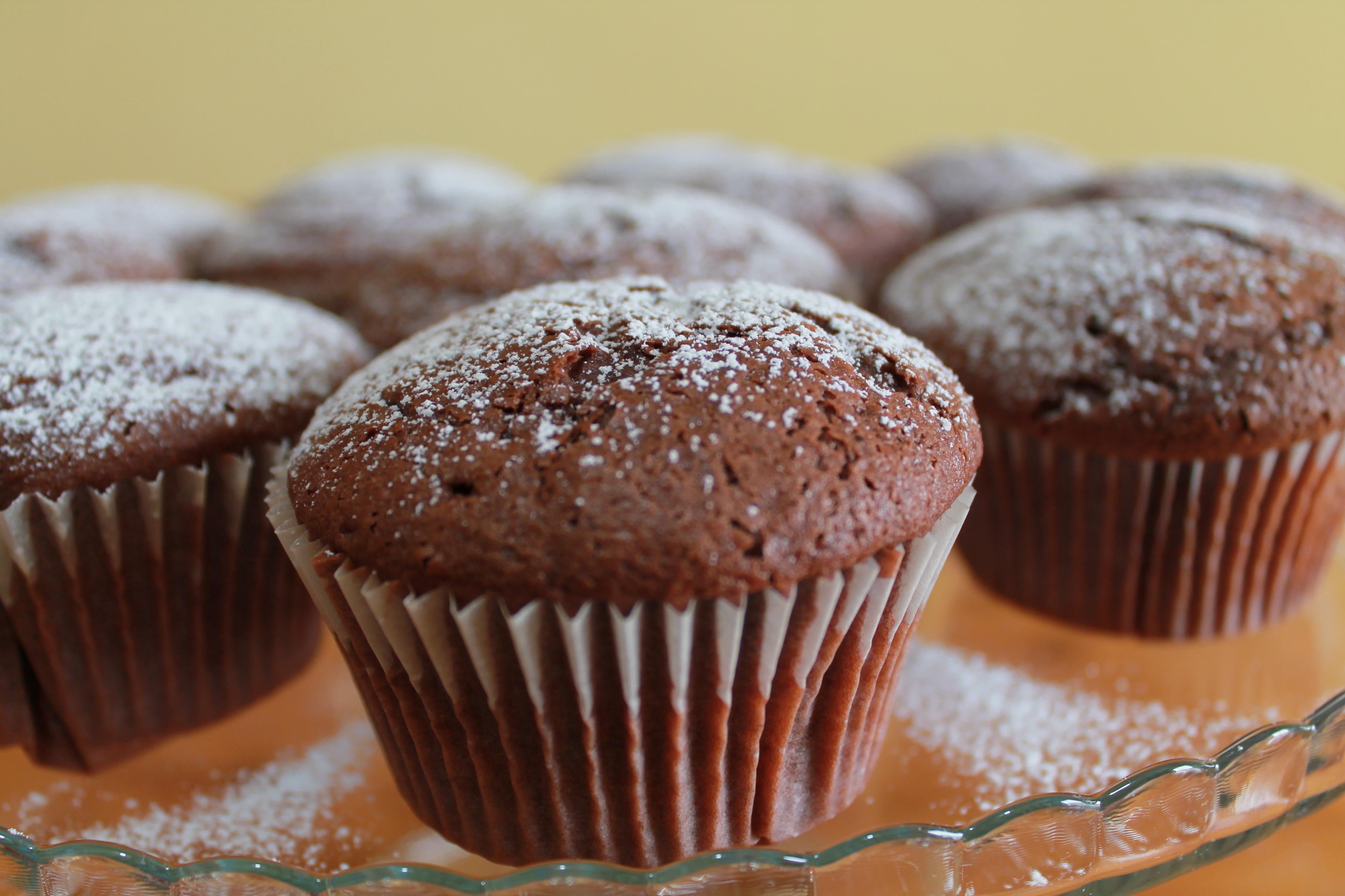Muffin al cacao e nutella
