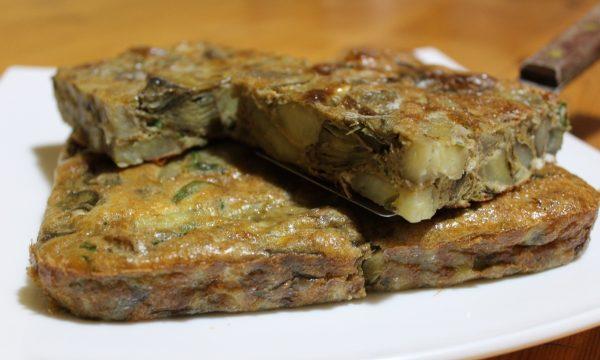 Frittata al forno con carciofi e patate