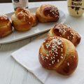 chiocciole di pan brioche con crema alle nocciole e cacao