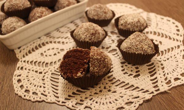 Palline di ricotta, cioccolato e cocco