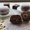 tortine al cioccolato con pistacchi