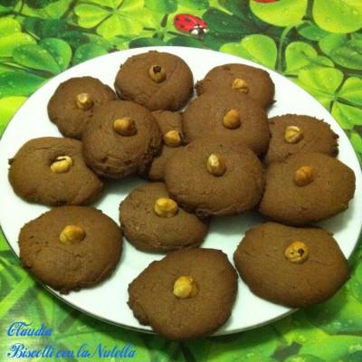 claudia biscotti con la nutella