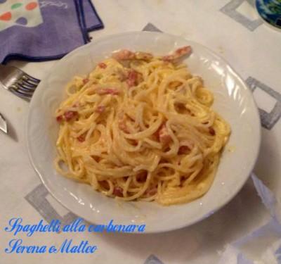 spaghetti alla carbonara serena e matteo