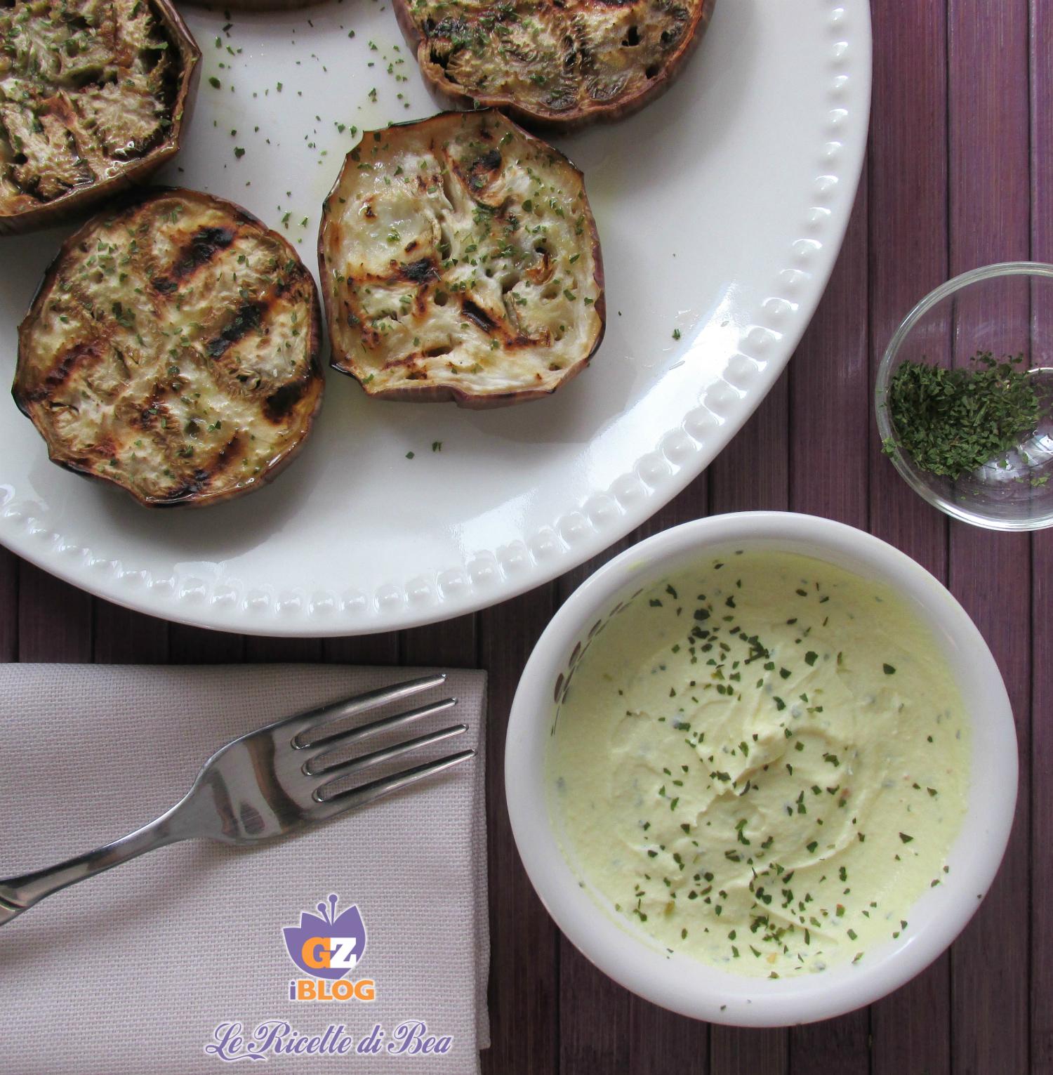 Melanzane grigliate con salsa greca