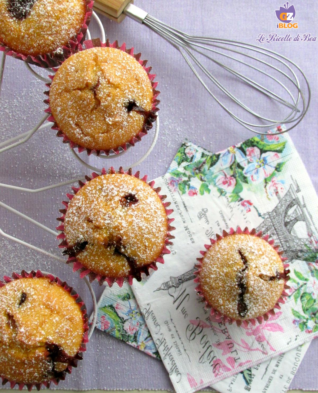 Muffin con Cocco e Nutella