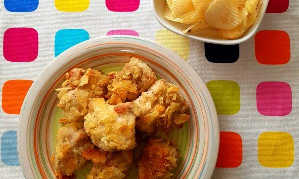 Bocconcini di pollo con patatine rustiche