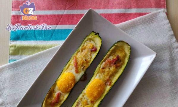 Zucchine con pancetta e uova