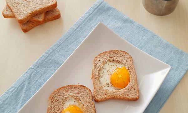 Toast con cuore d'uovo