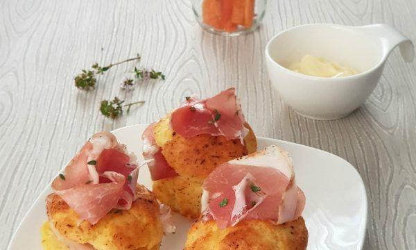 Muffin con Pancetta e Formaggio