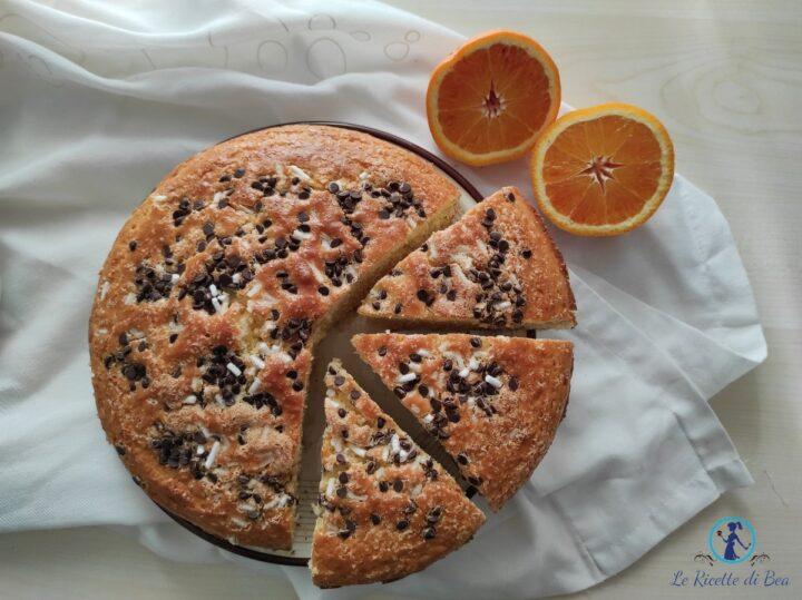 torta arancia e gocce di cioccolato