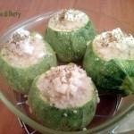 Zucchine ripiene di cous cous e mozzarella