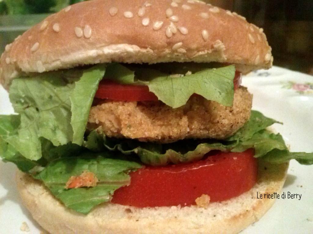 Hamburger vegetariano di ceci e carote