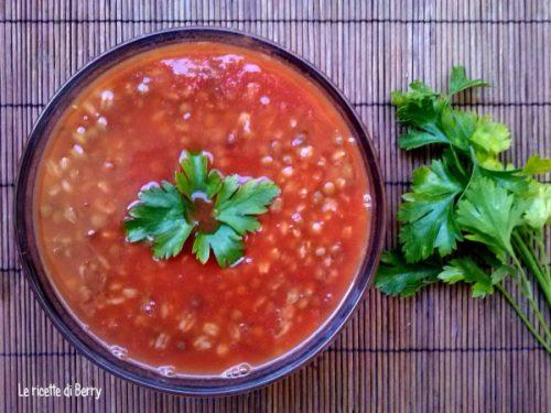 Zuppa di Farro e Lenticchie Piccante
