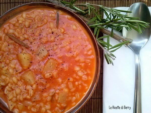 Zuppa di orzo e patate