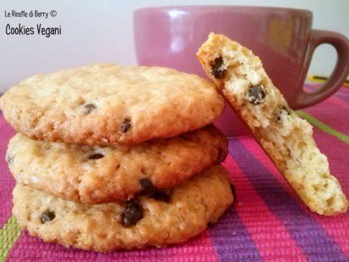 Cookies Vegani – Biscotti con Gocce di Cioccolato Senza Burro