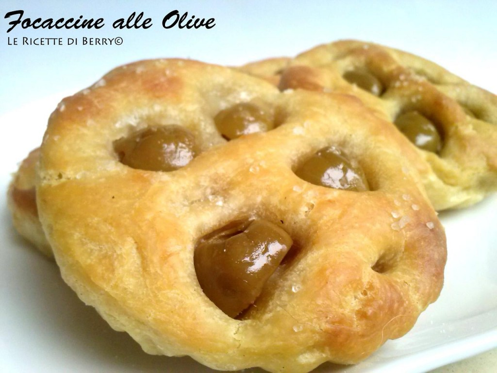 Focaccine alle Olive