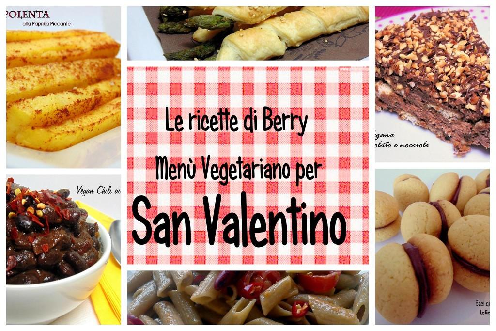 menù vegetariano san valentino