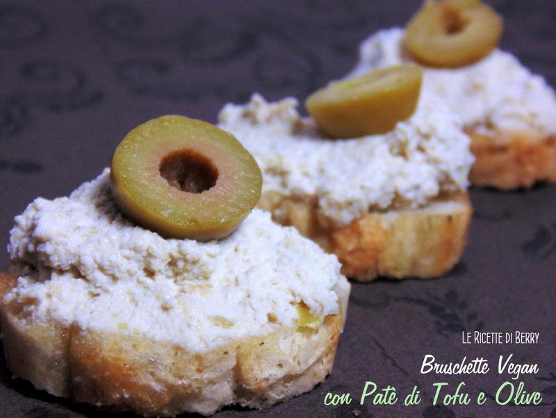 Bruschette con patè di tofu e olive