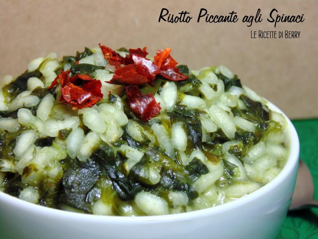 Risotto agli spinaci piccante