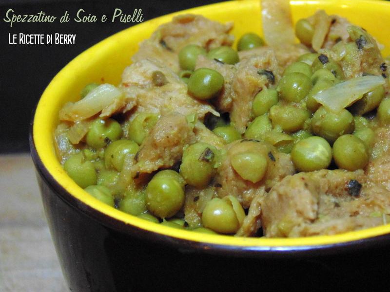 Spezzatino di soia e Piselli vegan