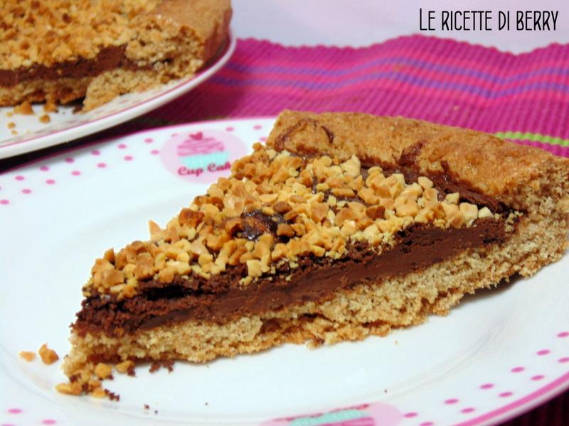 Crostata al cioccolato e mandorle senza burro (2)