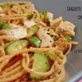 Spaghetti Integrali con tofu e zucchine