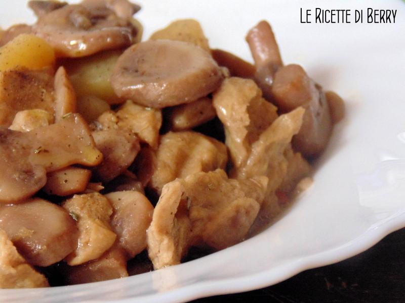 Spezzatino con muscolo di grano e funghi (2)