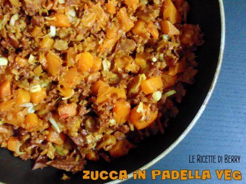 Zucca in Padella Vegan con Muscolo di Grano