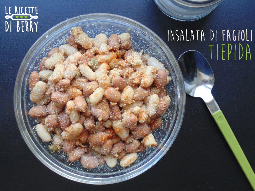 insalata di fagioli tiepida