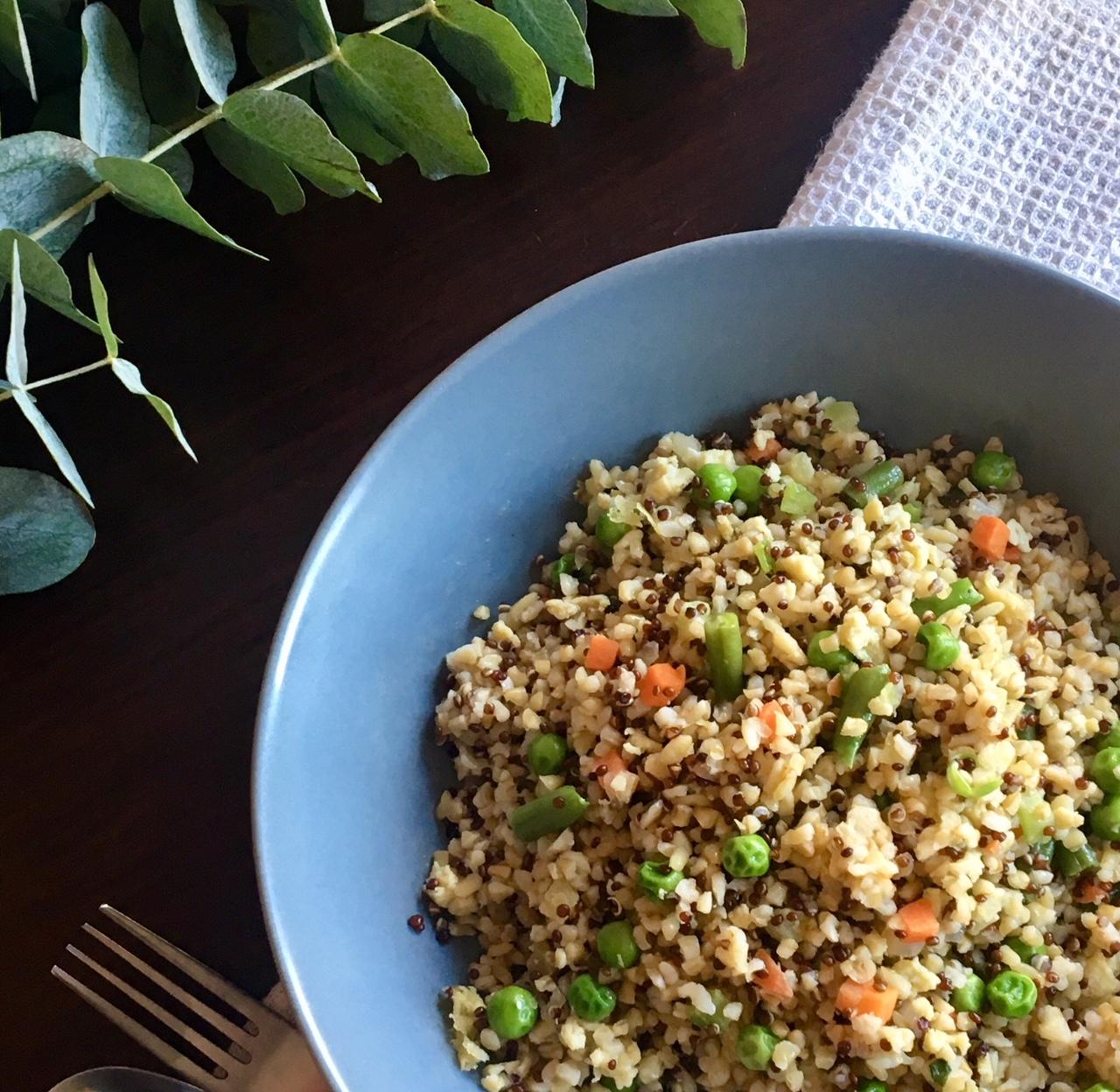 Quinoa e Grano con Verdure