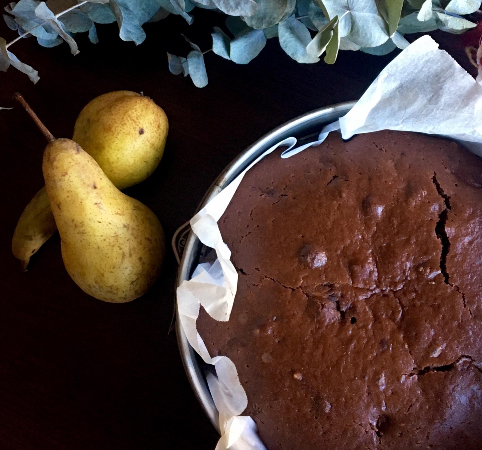 torta pere e cacao senza burro