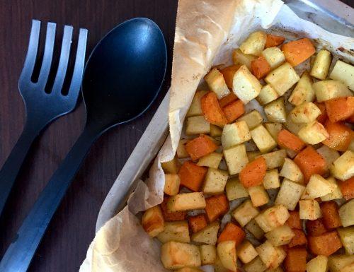 Patate e Zucca al Forno