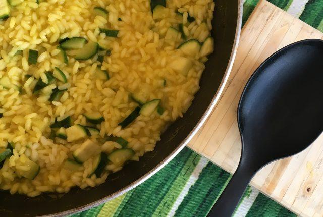 risotto con zucchine e zafferano