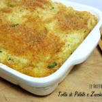 Torta di Patate e Zucchine Gratinata – Vegan